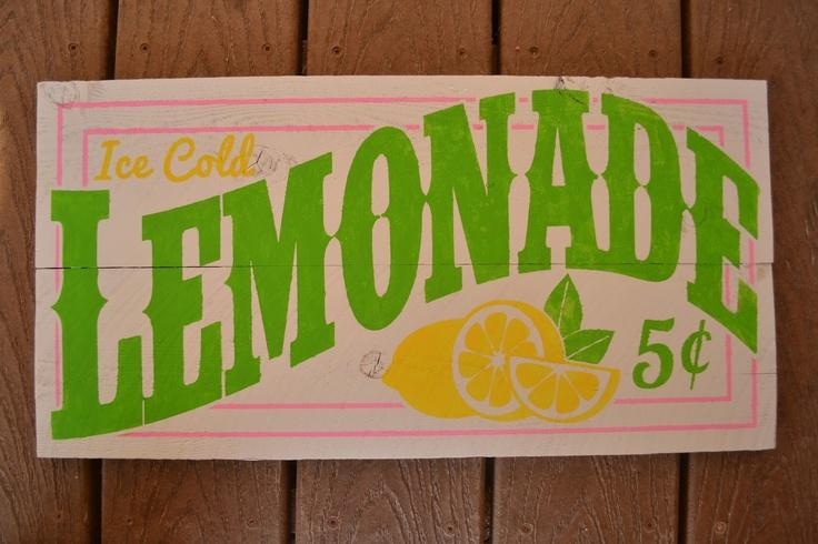 DIY lemonade sign :)