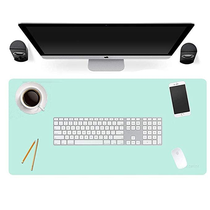 Multifunctional Office Desk Pad 31 5x 15 7large Ultra Thin Waterproof Pu Leather Mouse Pad Dual Use Desk Writing Leather Mouse Pad Leather Mouse Office Desk