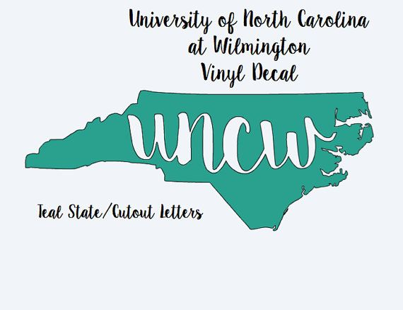 North carolina college vinyl decals 6 inches long x 2 5 inches wide featuring