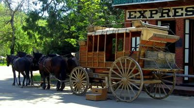 "A stagecoach in Columbia - like the ones ""The Griffin"" robbed in BRIGHTER THEN GOLD."