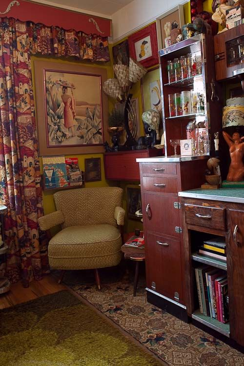 The bar - one of my favorite rooms with a really harmonious color story.