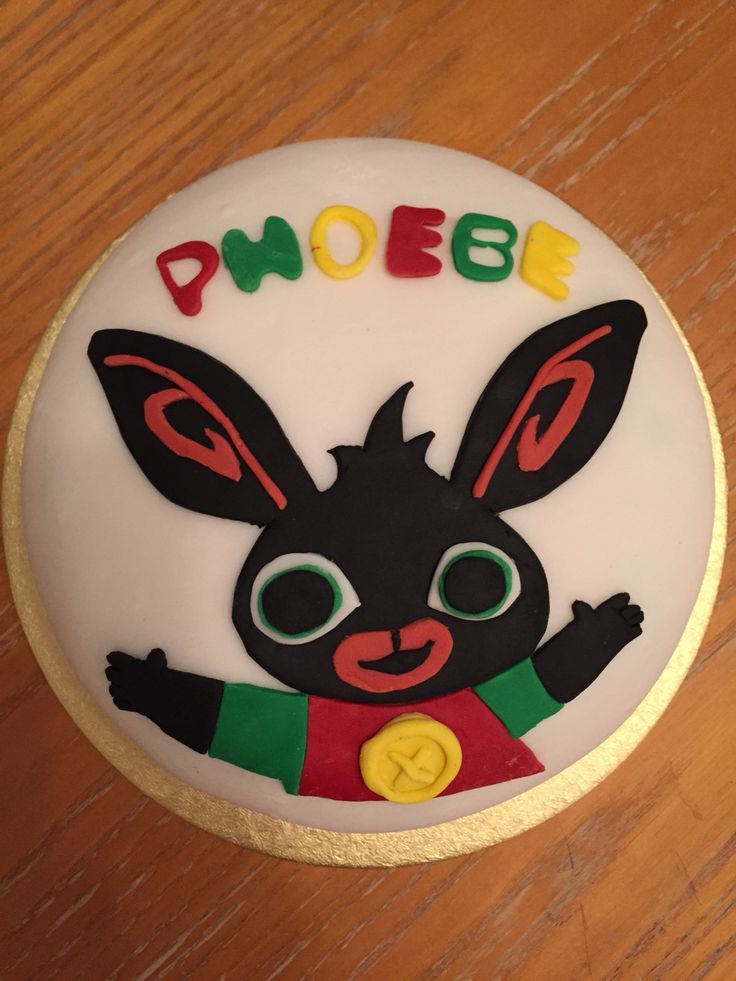 Cbeebies Bing Cake Bing Bunny Party Ideas Pinterest