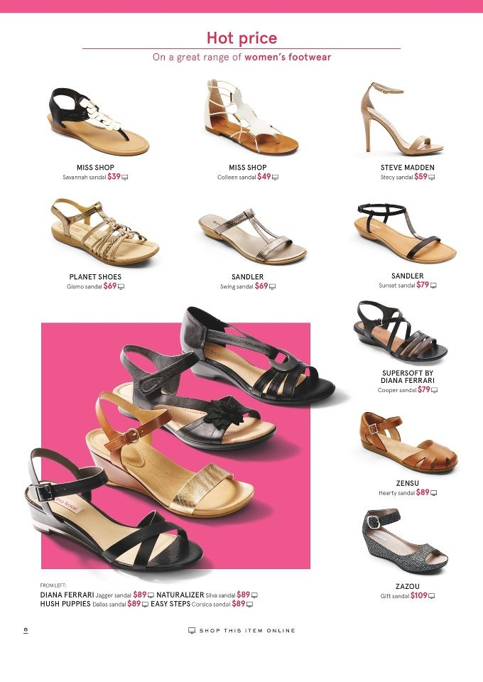 Myer Shoe Fashion Catalogue 25 31 Dec 2015 Is Available To Check Here Online Check Our Newest Catalogue Of Fashion Shoes Fashion Catalogue Fashion Marketing