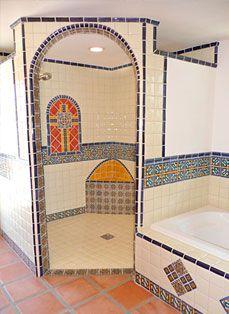 Bathroom Using Mexican Tiles