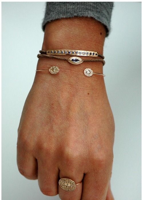 Gorgeous combination!: Arm Candy, Bracelets, Clothing, Simple, Accessor, Rings, Things, Jewels, Céline Daoust