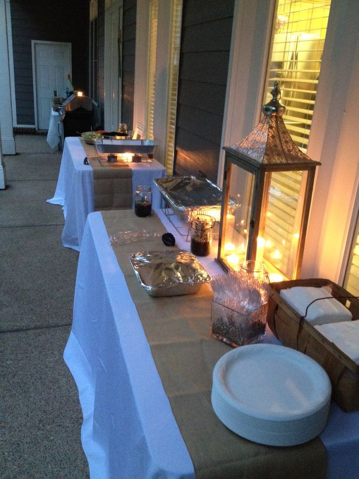 Mexican Themed Backyard Party Start Of The Buffet Didnt Get Final Results