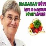 Karatay Diyeti Listesi | 7 Günlük Diyet Programı