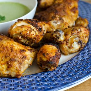 Peruvian Style Roast Chicken with Green Sauce Looks simply amazing - NEED to make once I get a roasting pan!