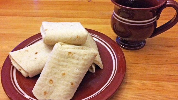 Lefseoppskrift med både rug og kveite, og med smør og sukker inni.