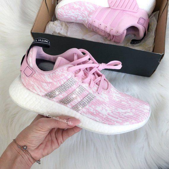 10b3b4746672b Swarovski Adidas Nmd Runner R2 Pink Made with SWAROVSKI® Xirius Rose ...