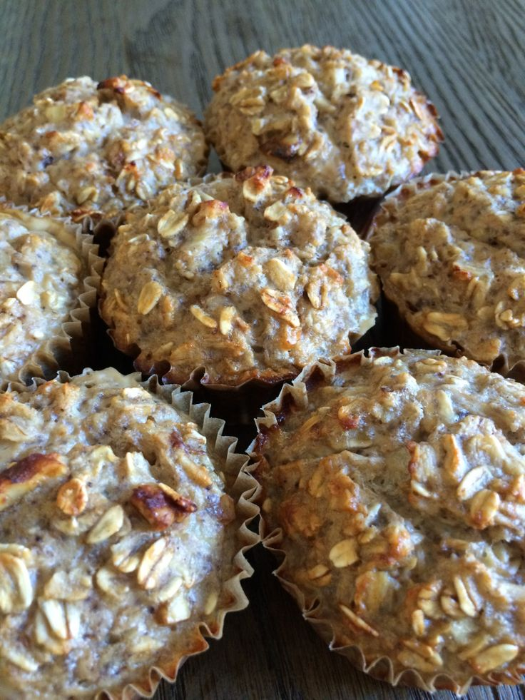 muffins de proteina y banana