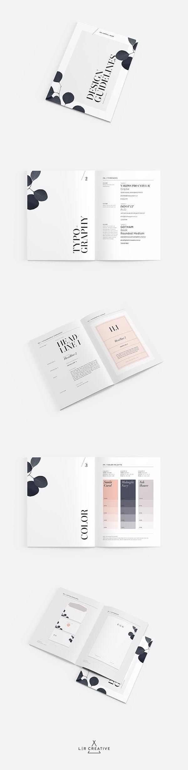 An Artful Mind Design Guidelines by LR Creative #LRCreative #DesignGuide #Branding #Identity