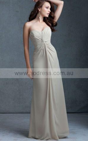 Chiffon Sweetheart Natural A-line Floor-length Bridesmaid Dresses 0740635--Hodress