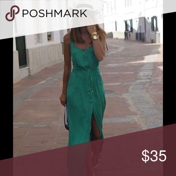 🌹🌹🌹🆕 FABULOUS MAXI DRESS WITH BELT 🌹🌹🌹 🌹🌹🌹🆕 FABULOUS TEAL MAXI DRESS WITH SPLIT AND BRAIDED BELT 🌹🌹🌹 Dresses Maxi