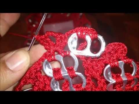 Como hacer bolsa de Anillas Inclinadas - YouTube