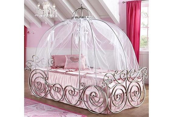 Hey, I found this really awesome Etsy listing at https://www.etsy.com/listing/263211571/disney-princess-carriage-bed-pink-canopy