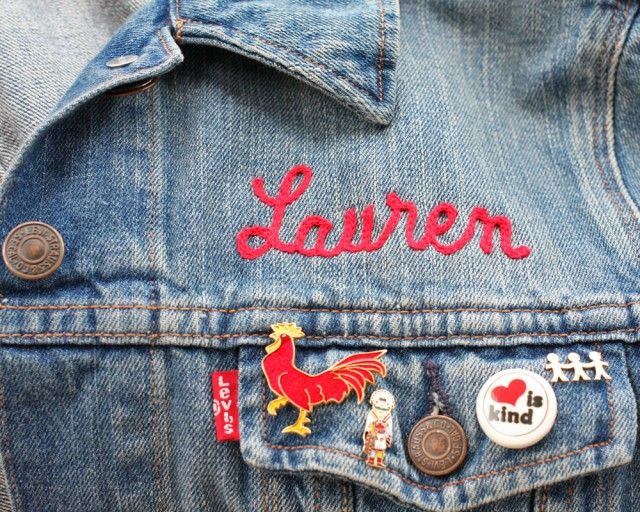 Our 12th Day Giveaway : 4 custom embroidered Levi's Trucker Jackets over on HWTF  ❤