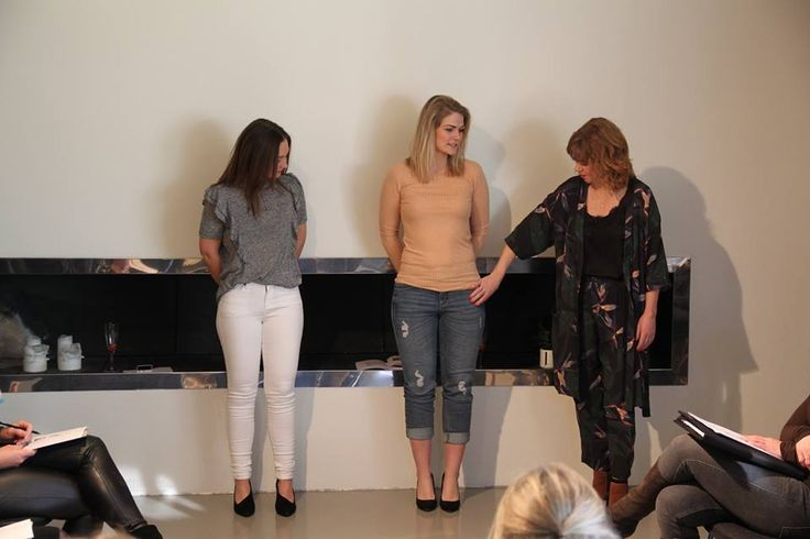 Left model wearing white Jojo jeans and July top, right model wearing Janet boyfriend jeans and Jodi o.neck top at Kickoff day SS17 Black Swan Fashion