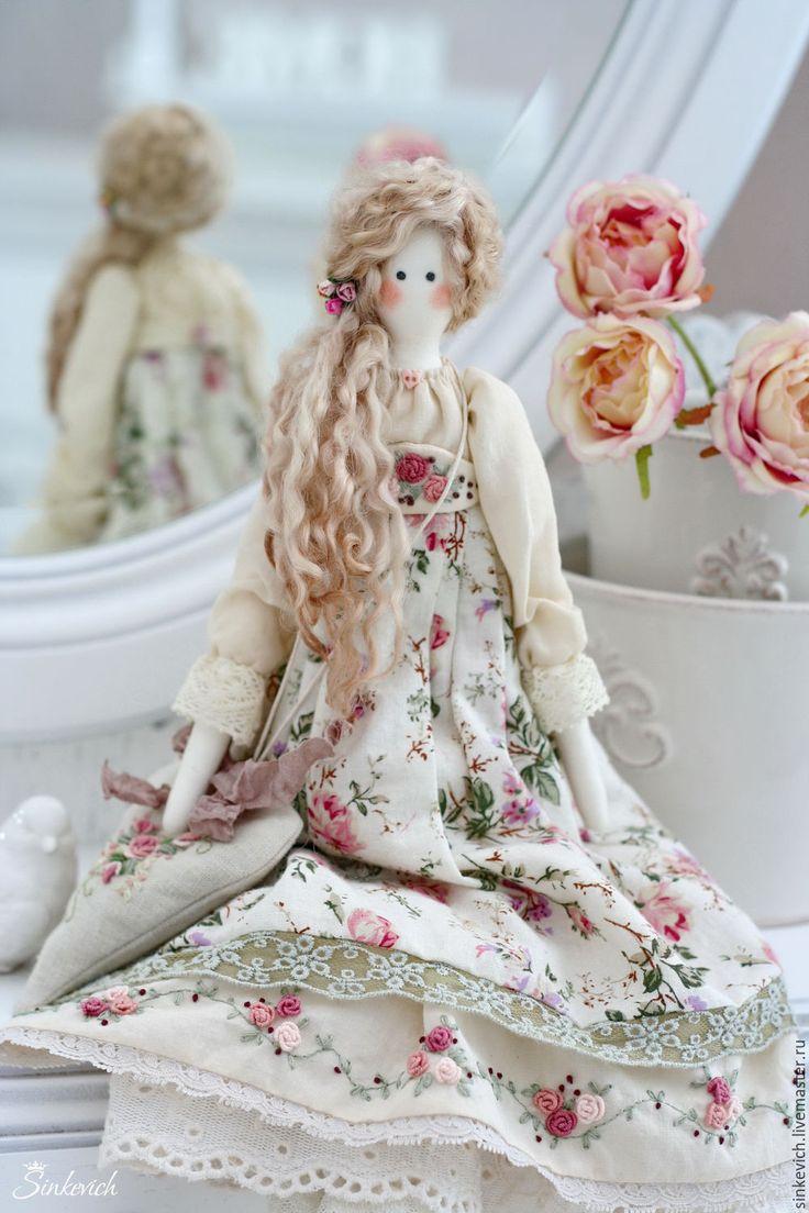 Купить Эльза - тильда, текстильная кукла, интерьерная кукла, декор для интерьера, для уюта, кукла