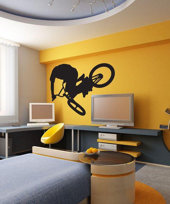 Vinyl mural autocollant d'Art Sticker BMX Rider 1311s