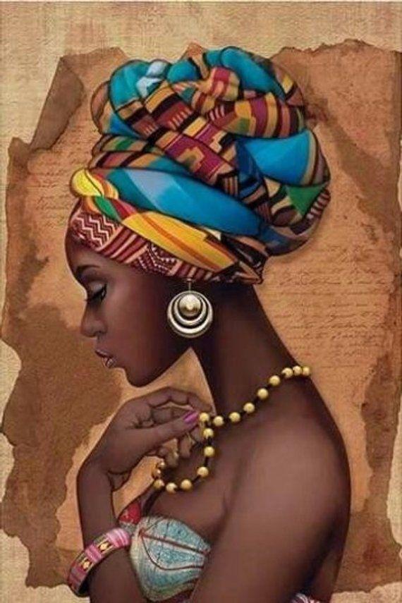 African Art Decor Cross Stitch Pattern – African Art Print – African Decor – Black Women – Embroidery – African Wall Art – PDF File