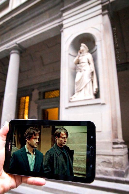 Hannibal Locations in Florence, Italy (Galleria degli Uffizi)