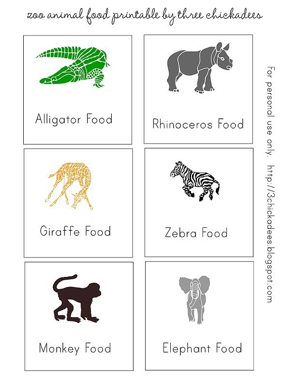 Zoo pretend play printables
