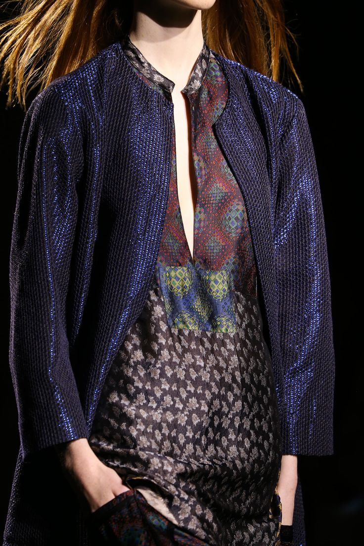 This blue Dries Van Noten Spring 2015 Ready-to-Wear - Collection - Gallery - Look 1 - Style.com