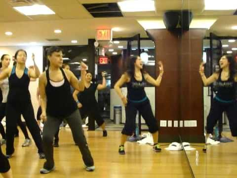 Zumba...on the floor by j-lo...did this in my Zumba class recently...it's a lot of fun and a great workout!