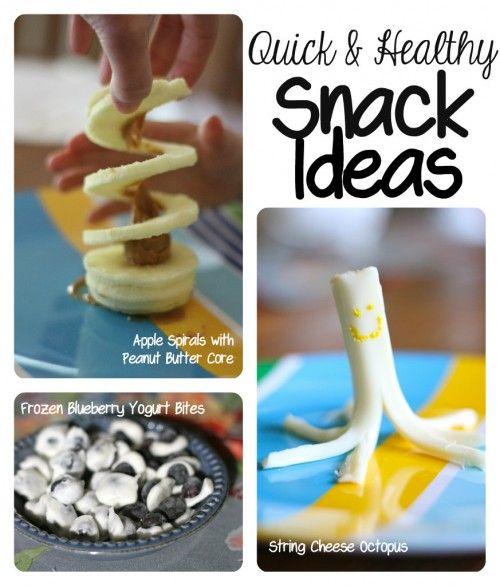 Quick & Healthy Snack Ideas for Kids. Love frozen blueberry bites!