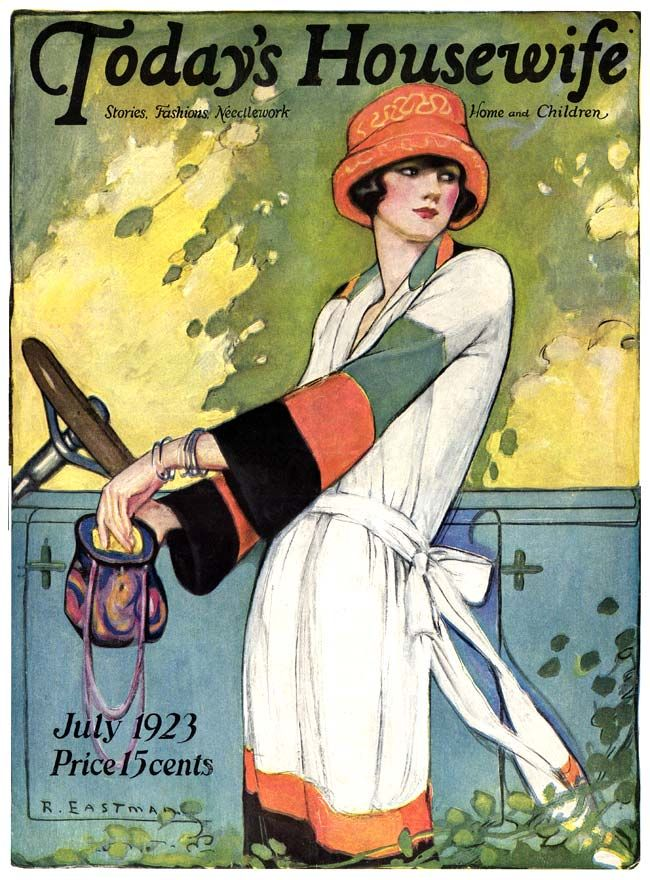 Today's Housewife 1923-07, illustration by Ruth Eastman