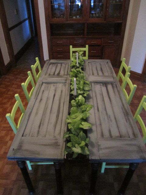 Hey, I found this really awesome Etsy listing at https://www.etsy.com/listing/185660091/vintage-door-dining-table-with-planters