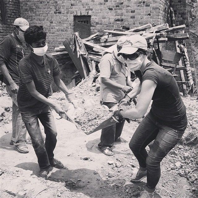 We are clearing rubble in #Nepal where the damage is devastating. We ask for your love and support during this time as we help the Nepalese community rebuild their homes and lives. #lovedoes