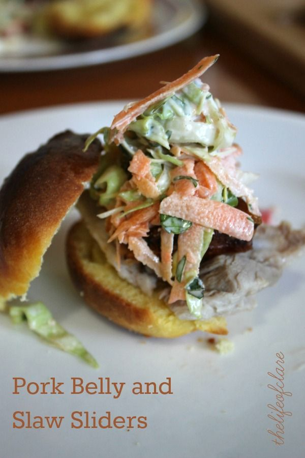 Pork Belly Sliders with Brioche Buns | Recipe | Pork, Pork ...