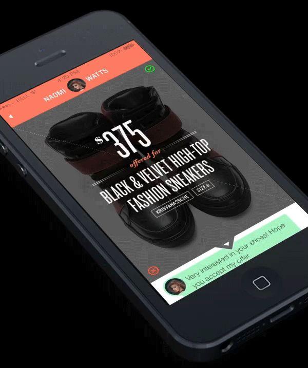 VICE VERSA - diagonal UI optimized for single hand IX by Michael Oh, via Behance