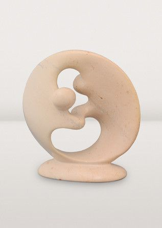 Harmony and affection meld together in this elegant sculpture. Look for the intricate veining of the kisii stone to add depth to this meaningful piece.
