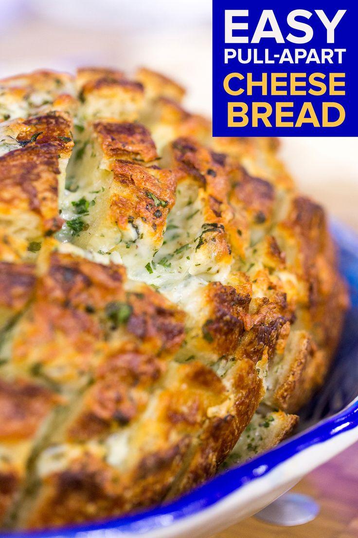 Easy Pull-Apart Cheese Bread | Recipe | Pull apart ...