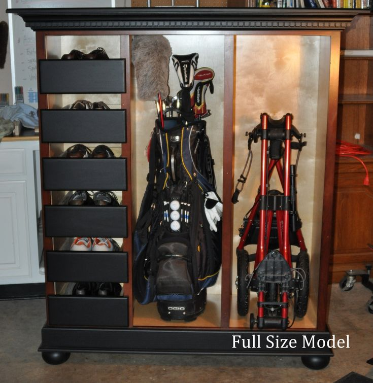 Full Size Cabinet Will Store Six Pairs Of Golf Shoes Two