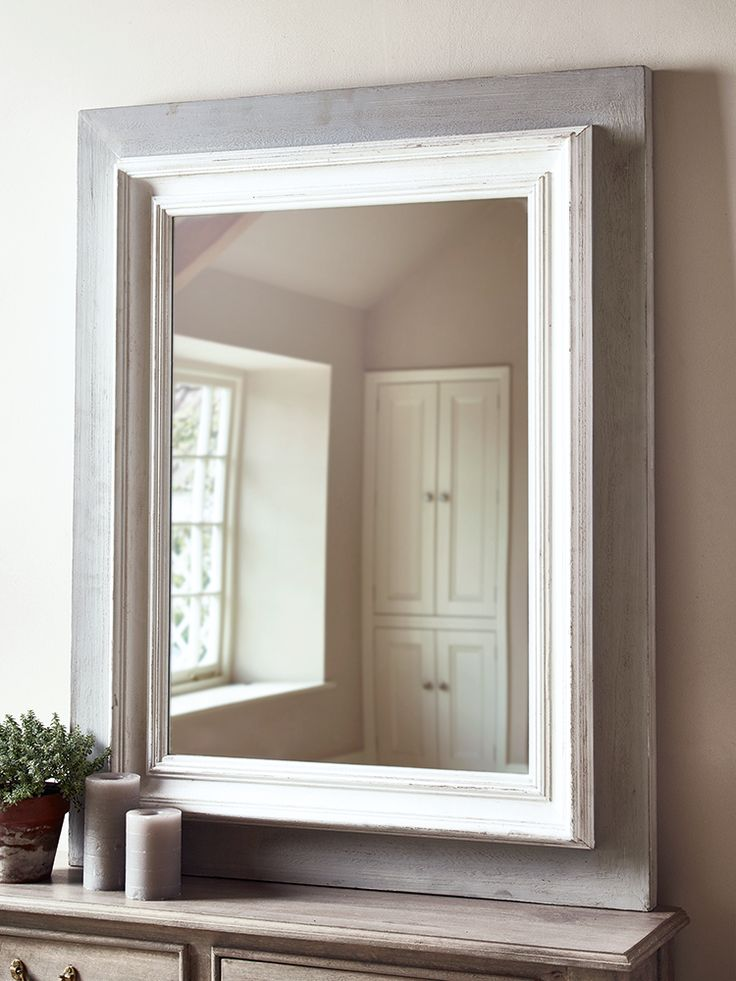 Carefully carved from fir wood, our large double framed mirror features a distressed white carved frame on a simple greywash backing board. Perfect for adding depth to your space, this rustic mirror is designed to suit most interiors and will look great sat above your mantelpiece or over a console table. Each of our Adalie mirrors include four hooks on reverse to allow you to hang either landscape or portrait.
