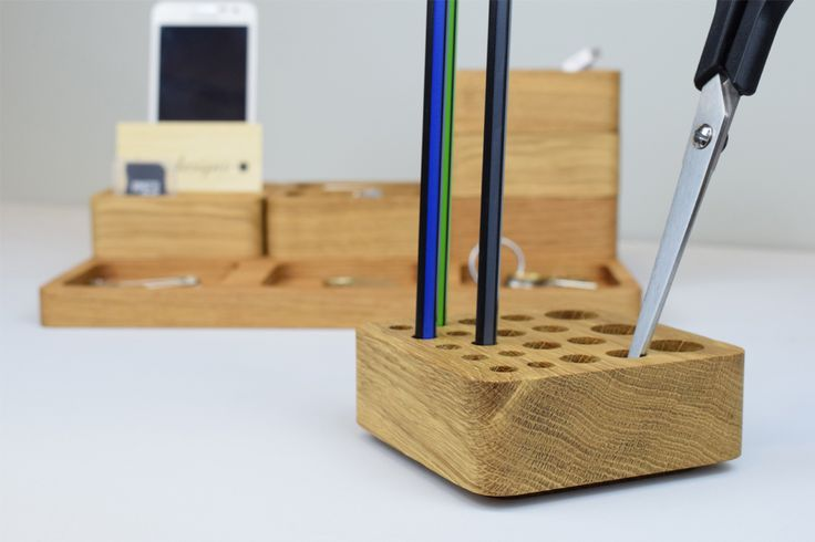 Our stacking oak desk tidy sets are great for organising your office space.