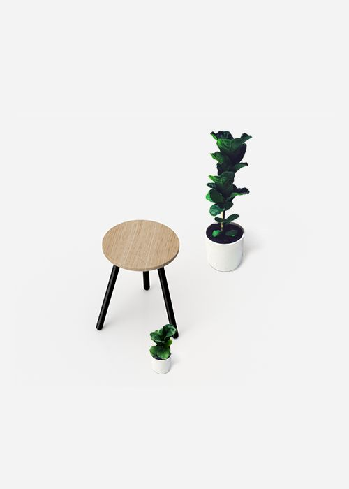Simple Stool Made with Aalo