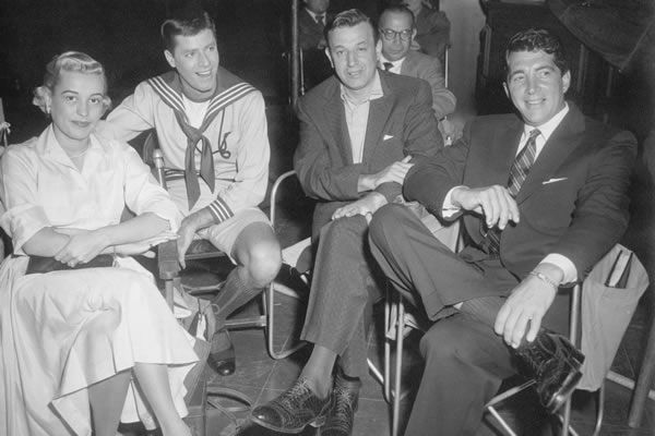 Skinny with Dean Martin, Jerry Lewis and his wife, Bettyjane.
