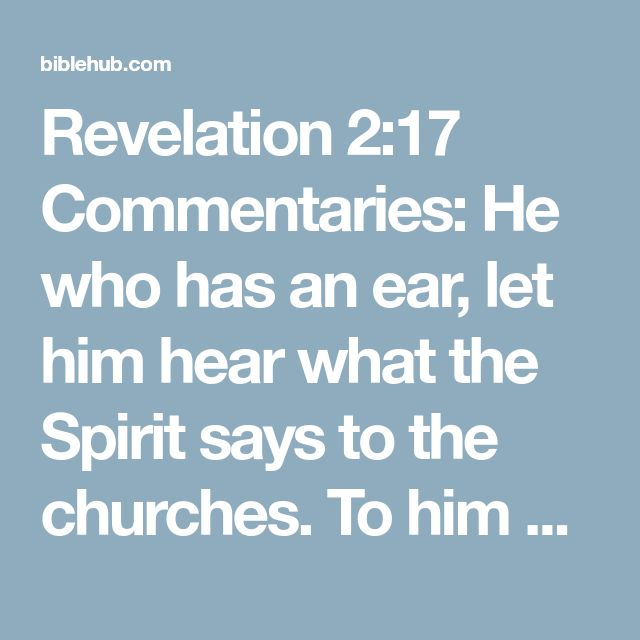 Best 25 revelation commentary ideas on pinterest ephesians 6 revelation 217 commentaries he who has an ear let him hear what the spirit says to the churches to him who overcomes to him i will give some of the sciox Image collections