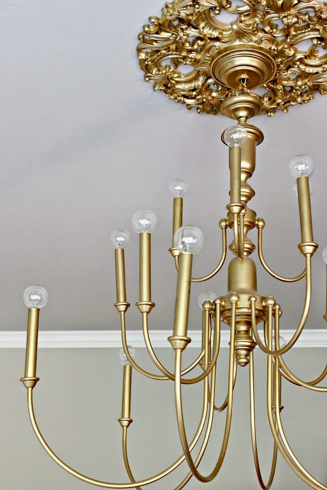 Dimples and Tangles: $20 BRASS CHANDELIER MAKEOVER                                                                                                                                                                                 More