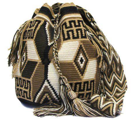 Mochila Colombiana Wayuu Patrones Complejos - comprar online