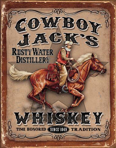 Cowboy Jacks Cartel de chapa