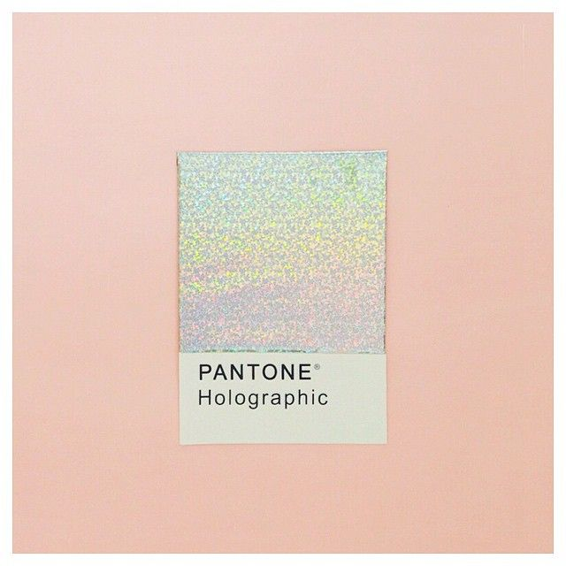 "One of my favorite Pantone of the month, holographic <span class=""EmojiInput…"