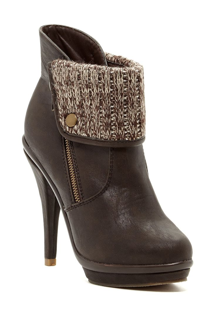 Legend Footwear Charlotte Fold Over Platform Stiletto Bootie by Legend Footwear on @HauteLook