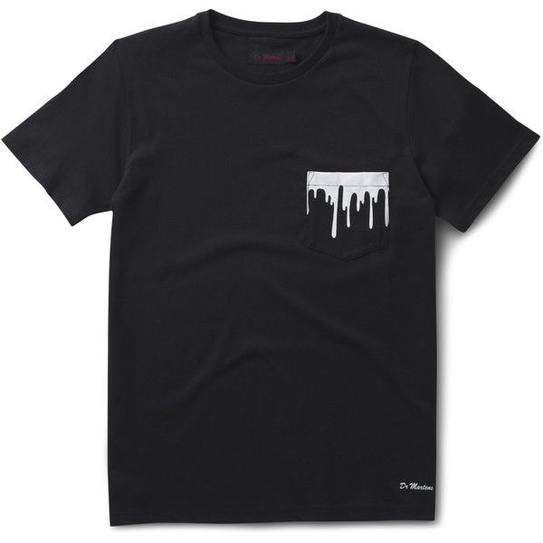 Dr. Martens Paint Splat Pocket T-shirt ($35) ❤ liked on Polyvore featuring men's fashion, men's clothing, men's shirts, shirts, tops, men, black, mens graphic t shirts, mens party shirts and rockabilly mens clothing
