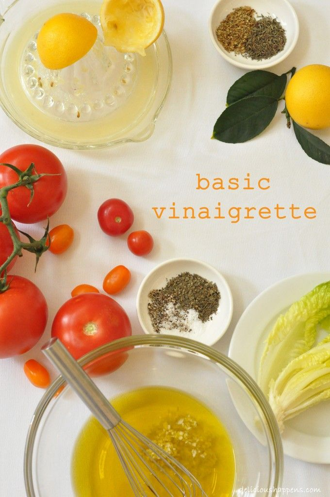 This Basic Vinaigrette is so quick and easy to make with simple ingredients you have on hand. Better than store-bought bottled dressing! @theharvestkitchen.com